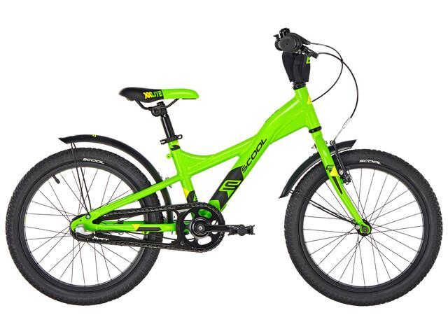 s'cool XXlite 18 3-S Barncykel alloy grön